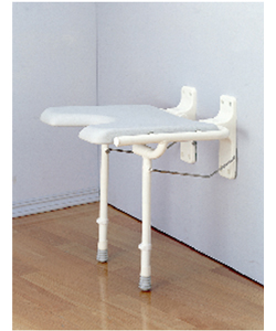 Nova Wall Mounted Shower Seat With 250lb Capacity - shown in down position