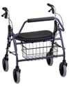 Nova Mighty Mack Heavy Duty Rolling Walker with 600 lb Capacity