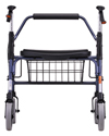 Nova Mighty Mack Heavy Duty Rolling Walker with 600 lb Capacity - Rear view shown