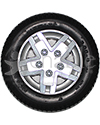 14 x 3 in (3.00-8) Pride Drive Wheel Assembly for the Jazzy 600 ES - Front view shown