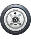 6 x 2 in. Quantum J6, Jazzy J6, and Quantum Q610 Rear Replacement Wheelchair Caster Wheel - front view shown