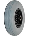 8 x 2 in. (200 x 50) Pride Wheelchair Replacement Caster Wheel with 10 mm Bearings - Angled view shown