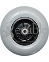 8 x 2 in. (200 x 50) Pride Wheelchair Replacement Caster Wheel with 10 mm Bearings - Front view shown