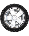 10.75 x 3.6 in. Primo Drive Wheel For The Pride Celebrity X Scooter - Front view shown