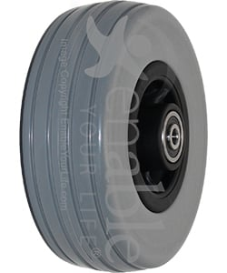 6 x 2 in. Quantum 6000Z, Quantum 6400Z, Q6 Edge Replacement Wheelchair Caster Wheel - Angled view shown
