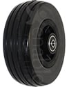 6 x 2 in. Quantum Q6 Edge 2.0 and 2.0 X Replacement Wheelchair Caster Wheel with Black Tire - Angled view shown