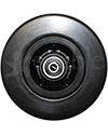 6 x 2 in. Quantum Q6 Edge 2.0 and 2.0 X Replacement Wheelchair Caster Wheel with Black Tire - Front view shown