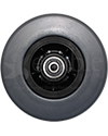 6 x 2 in. Quantum Q6 Edge HD Replacement Wheelchair Caster Wheel with Charcoal Tire - front view shown