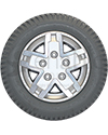 14 x 3 in (3.00-8) Pride Drive Wheel for Quantum Q6 Edge HD - Front view shown