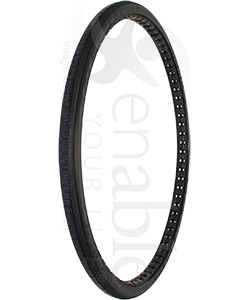 24 x 1 3/8 in. (37-540) Primo Express (Xpress) Urethane Wheelchair Tire - Angled view shown