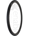 22 x 1 3/8 in. (37-501) Primo Orion Urethane Wheelchair Street Tire - Angled view shown