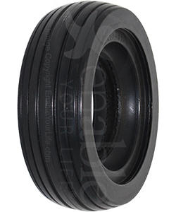 6 x 2 in. (150 x-50) Primo Multi-Rib Urethane Wheelchair Tire in Black - Angled view shown