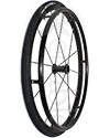 24 in. (540) Primo Sentinel 12 Spoke Wheelchair Wheel and Tire - Angled view shown