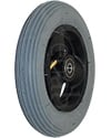 6 x 1 1/4 in. Primo Hollow Spoke Wheelchair Caster Wheel with Pneumatic Tire and Tube - Angled view shown