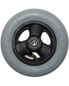 6 x 1 1/4 in. Primo Hollow Spoke Wheelchair Caster Wheel with Pneumatic Tire and Tube - Front view shown