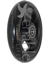 4 x 1 in. Primo Hollow Spoke Wheelchair Caster Wheel with Soft Urethane Tire - Angled view shown