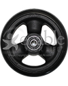 4 x 1 in. Primo Hollow Spoke Wheelchair Caster Wheel with Soft Urethane Tire - Front view shown