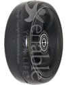 4 x 1 1/2 in. Primo Hollow Spoke Wheelchair Caster Wheel with Soft Urethane Tire - Angled view shown