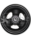 4 x 1 1/2 in. Primo Hollow Spoke Wheelchair Caster Wheel with Soft Urethane Tire - side view shown