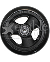 5 x 1 in. Primo Hollow Spoke Wheelchair Caster Wheel with Soft Urethane Tire - Front view shown
