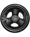 5 x 1 1/2 in. Primo Hollow Spoke Wheelchair Caster Wheel with Soft Urethane Tire - Side view shown