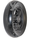 6 x 1 1/2 in. Primo Hollow Spoke Wheelchair Caster Wheel with Soft Urethane Tire - Angled view shown