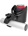 RAM Self-Leveling Wheelchair and Scooter Cup Holder - Close of view of  the Tough-Claw™ clamp