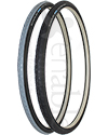 24 x 1 in. (25-540) Schwalbe Downtown HS 342 Wheelchair Tire - Angled view of both colors shown