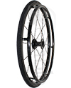 24 in. (540) Shox® Swan® 16 Spoke Aluminum Wheelchair Wheel - Angled view shown with Black Shox tire mounted