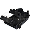 Therafin Deluxe Wheelchair Molded Shoe Holder with Padded Straps - Shown with straps attached