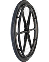 24 in. (540) X-Core™ 6 Spoke Lightweight Wheelchair Wheel & Tire - Angled view shown