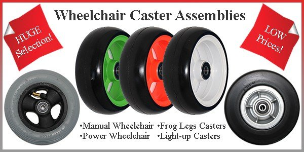 Wheelchair Caster Assemblies